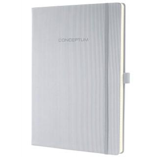 SIGEL Notizbuch CO642 A4 194 Blatt kariert mit Hardcover hellgrau