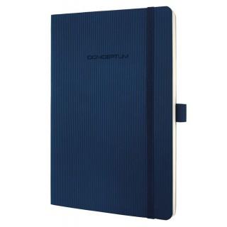 SIGEL Notizbuch CO326 A5 194 Blatt kariert mit Softcover dunkelblau