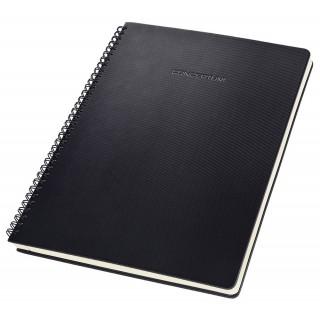 SIGEL Spiralblock CO820 A4 160 Seiten kariert schwarz