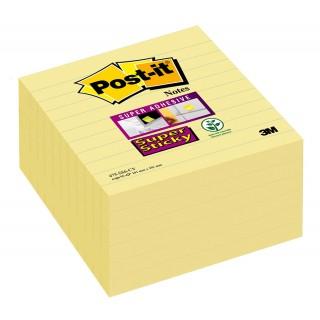 POST-IT® Haftnotizen Super Sticky 675-6SCY 6 Blöcke à 90 blatt liniert 101 x 101 mmgelb