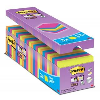 POST-IT Haftnotiz Super Sticky 654-RIO 24 Blöcke à 90 Blatt mehrere Farben