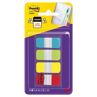 POST-IT® Index Strong 676-ALYR 4 x 10 Blatt 16 x 38 mm farbig sortiert