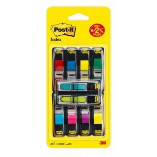 POST-IT® Index Mini 683-VAD1 10 Stück im Spender 11,9 x 43,2 mm farbig sortiert