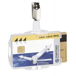 DURABLE Ausweishalter 8218 Duo 25 Stück für 2 Karten mit Clip