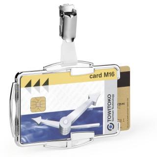 DURABLE Ausweishalter 8902 RFID Secure Duo 10 Stück für 2 Karten silber