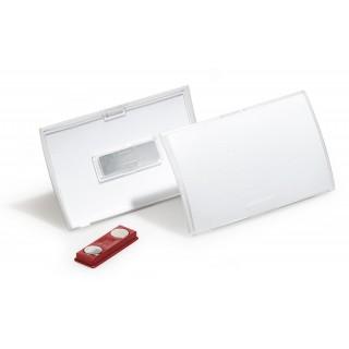 DURABLE Namensschild mit Magnet 10 Stück 75 x 40 mm transparent