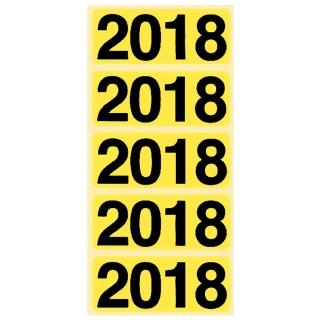 BENE Jahresschild 92018 2018 100 Stück gelb