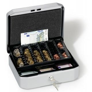DURABLE Geldkassette €uroboxx 28,3 x 22,5 x 10 cm anthrazit/grau