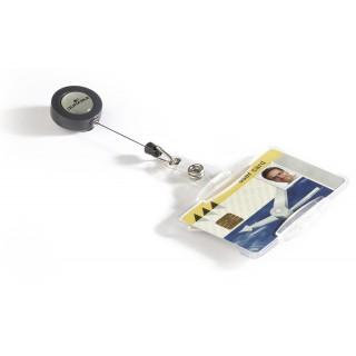 DURABLE Ausweishalter mit Jojo 10 Stück transparent