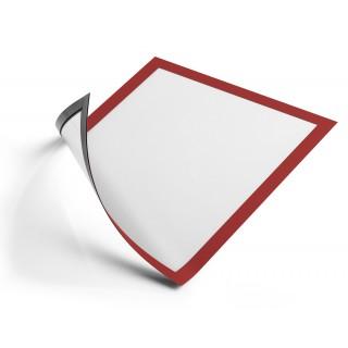 DURABLE Info-Rahmen Duraframe magnetic A4 5 Stück rot
