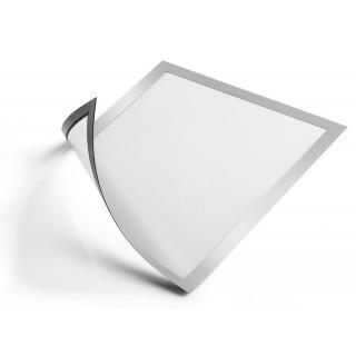 DURABLE Info-Rahmen Duraframe magnetic A4 5 Stück silber