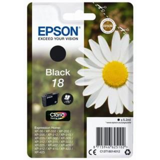 EPSON Tintenpatrone T18014012 Nr. 18 schwarz