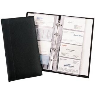 ALASSIO Visitenkarten-Ringbuch 41008 Kunstleder schwarz