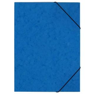 OFFICIO Flügelmappe 507 aus Pressspann mit Gummizug A4 blau