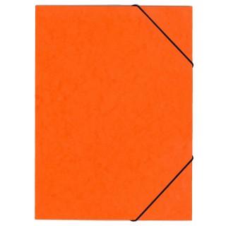 OFFICIO Flügelmappe 507 aus Pressspann mit Gummizug A4 orange
