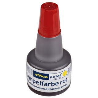 OFFICE POINT Stempelfarbe 30 ml rot