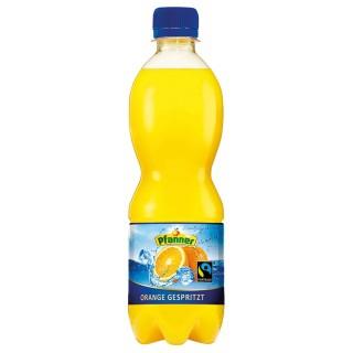 PFANNER Orangensaft gespritzt PET-Flasche 0,5 Liter