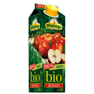 PFANNER Apfelsaft Bio Tetra-Pak 1 Liter