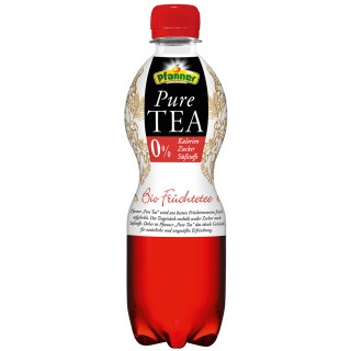 PFANNER Eistee Bio Früchte Tee PET-Flasche 0,5 Liter