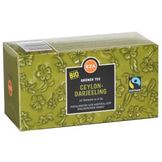 EZA Grüner Tee Bio Ceylon-Darjeeling 24 Beutel