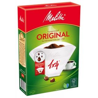 MELITTA Kaffee Filterpapier ung. 1x4 weiß 80 Stück