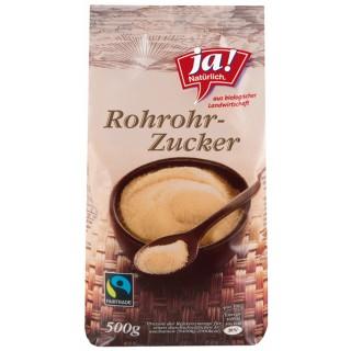 JA! NATÜRLICH Roh-Rohrzucker Bio Fairtrade 500g