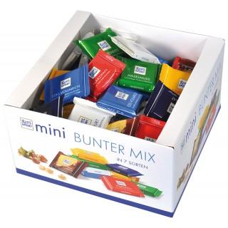 RITTER SPORT Mini-Schokoladen Bunter Mix 84 Stück