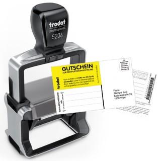 TRODAT Textstempel Professional 5206 56 x 33 mm 6-zeilig mit Gutschein