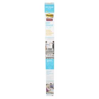 POST-IT® Whiteboardfolie Super Sticky Dry Erase Film 1 Rolle selbstklebend 121,9 x 243,8 cm weiß