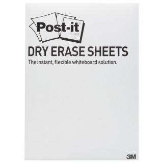 POST-IT® Whiteboardfolie Super Sticky Dry Erase Film 15 Blatt selbstklebend 27,9 x 39 cm weiß