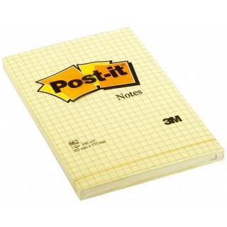 POST-IT® Haftnotizen 662 6 Blöcke à 100 Blatt kariert 102 x 152 mm gelb