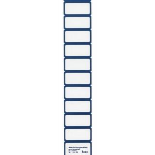 BENE Beschriftungsschild 116260 50 Stück 6 x 3 cm mit Rahmen blau