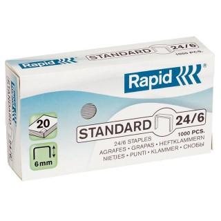 RAPID Heftklammern 24/6 1000 Stück verzinkt