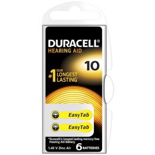 DURACELL Knopfzelle DA10 6 Stück für Hörgeräte