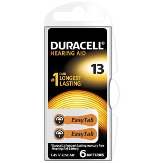 DURACELL Knopfzelle DA13 6 Stück für Hörgeräte