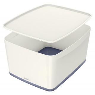 LEITZ Aufbewahrungsbox MyBox 5216 18 Liter weiß/grau metallic