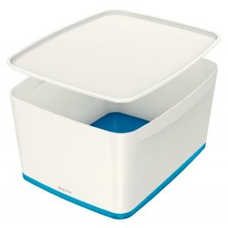 LEITZ Aufbewahrungsbox MyBox 5216 18 Liter weiß/blau metallic