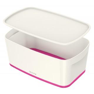LEITZ Aufbewahrungsbox MyBox 5229 5 Liter weiß/pink metallic