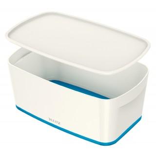 LEITZ Aufbewahrungsbox MyBox 5229 5 Liter weiß/blau metallic