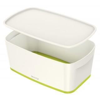 LEITZ Aufbewahrungsbox MyBox 5229 5 Liter weiß/grün metallic