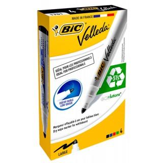 BIC Whiteboardmarker 1701 Velleda 4 Stück Rundspitze 1,5 mm mehrere Farben
