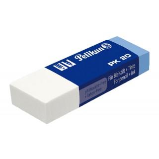PELIKAN Radierer PK20 Kunststoff weiß/blau