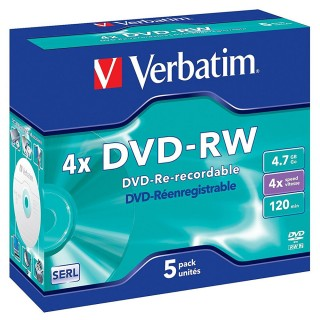 VERBATIM DVD-RW im Jewel Case  4,7 GB 4-fach