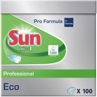 SUN Geschirrspültabs 100 Stück All-in-one Professional Eco