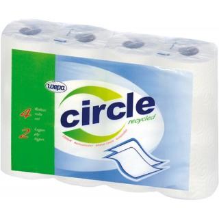 WEPA Küchenrolle Circle 4 Rollen Recycling 2-lagig weiß