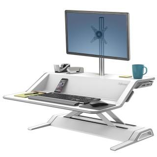 FELLOWES Lotus Steh-Sitz Workstation 0009901 weiß