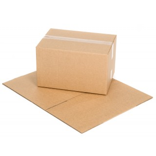 Versandkarton Größe 5 1-wellig mit Sesamband 445 x 315 x 267 mm braun