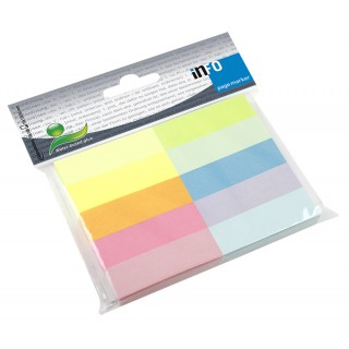 INFO Papiermarker 15 x 50 mm 10 x 100 Blatt mehrere Farben