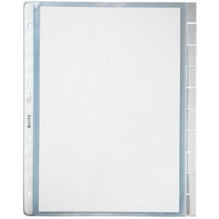 LEITZ Prospekthülle 4754 mit Register A4 10-teilig 10 Stück transparent