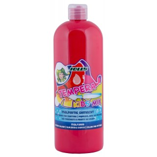 JOLLY Malfarbe 9342 Tempera Kids Mix 1 Liter karminrot